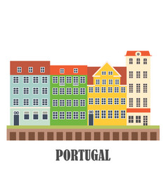 Portugal landmarks set old porto vector