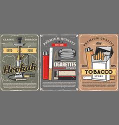 Premium quality tobacco cigarettes store vector