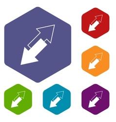 Reverse rhombus icons vector
