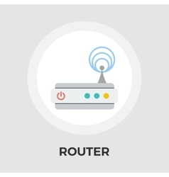 Router flat icon vector