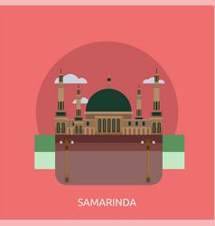 Samarinda city of indonesia conceptual design vector