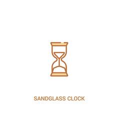 Sandglass clock concept 2 colored icon simple vector