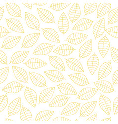 Seamless pattern with yellow leaves vector