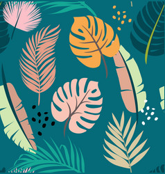 seamless tropical leaf pattern vector image