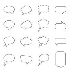 set blank speech bubbles vector image