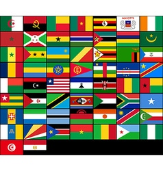 Set of flags of African countries flags of Africa vector image