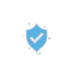 Sheild protected icon design vector