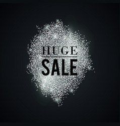 silver-huge-sale-spot vector image