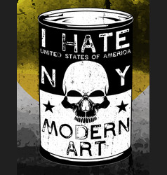 Skull modern art poster tee graphic design vector