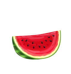 Slice watermelon vector