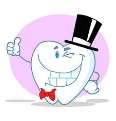 Smiling Winking Gentleman Tooth vector