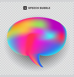 speech bubble vibrant color transparency vector image
