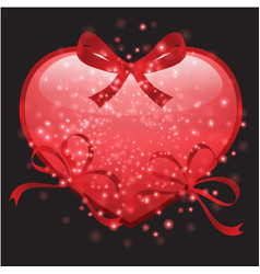 stylish valentines day background vector image