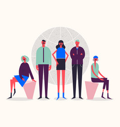 Stylized characters business vector