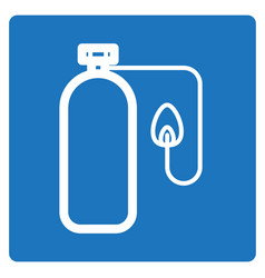 Thin line oxygen tube icon vector