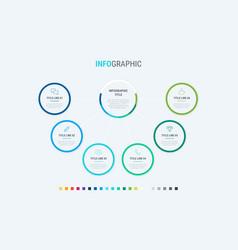 timeline infographic design 6 options vector image