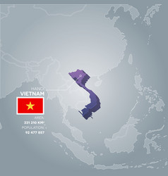 Vietnam information map vector