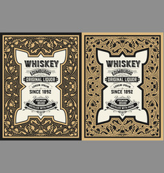 Whiskey label design vector