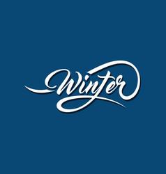 winter calligraphic text vector image