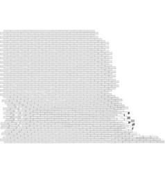 broken wall vector image vector image