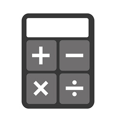 calculator device vector image
