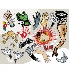 comic hands vector image vector image