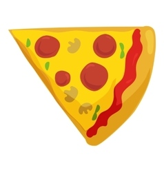Fast food pizza slice icon vector image