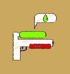 Flat shading style icon water gun vector