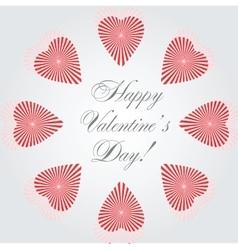 hearts card vector image