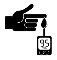measurement of glucose in the blood vector image vector image