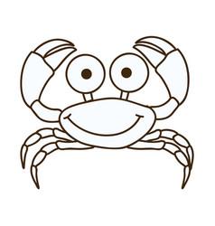 figure happy crab cartoon icon vector image vector image