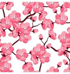 Japanese sakura seamless pattern with stylized vector image