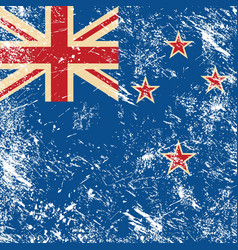 New Zealand retro flag vector image vector image