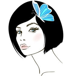 beauty woman portrait design element vector image vector image