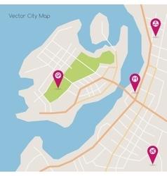 Island abstract map vector