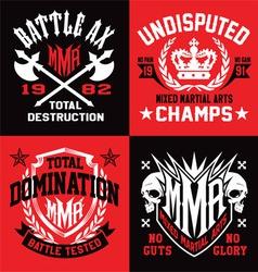 MMA sport emblem graphics vector image vector image