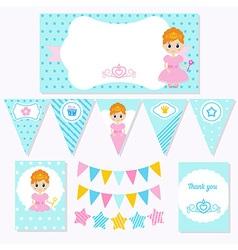 Princess Birthday vector image vector image