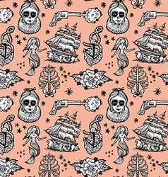 seamless pattern tattoo vector image