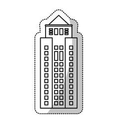 building facade windows cut line vector image vector image