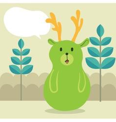Deer Talk vector image vector image