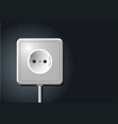 electric european outlet on the wall white vector image