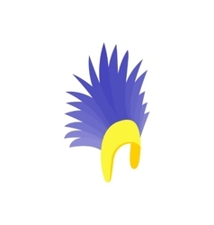 Feathers hat icon isometric 3d style vector image vector image