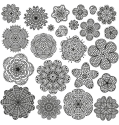 Set of creative flowers for your design vector image vector image