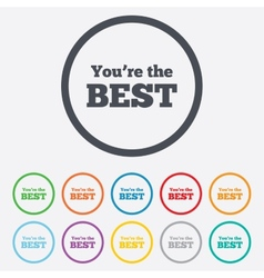 You are the best icon Customer award symbol vector image vector image
