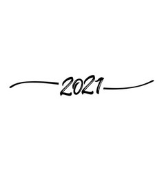 2021 hand drawn shape black vector image