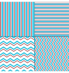 Abstract geometric chevron and stripes seamless vector image