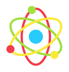 Atom flat icon education and physics vector
