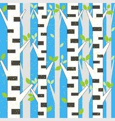 Background spring birch vector