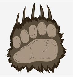 bear footprint grizzly paw print vector image