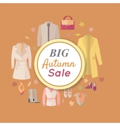 Big autumn fall outerwear sale banner poster vector